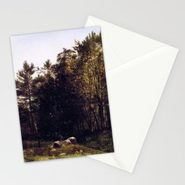 A Study Near Tamworth New Hampshire 1863 By David Johnson   Reproduction   Romanticism Landscape Pai Stationery Cards