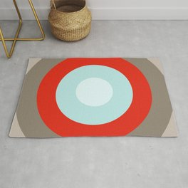 Culebra - Classic Colorful Abstract Minimal Retro 70s Style Graphic Design Rug