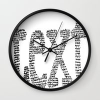 text Wall Clocks featuring text by JULIA