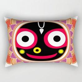 Jahannatha Mandala, Hare Krishna, The Lord of the Universe, Big Smile Rectangular Pillow