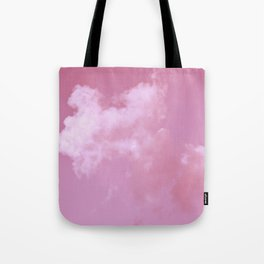 Floating cotton candy with pink Tote Bag