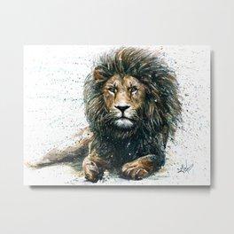 Lion Metal Print