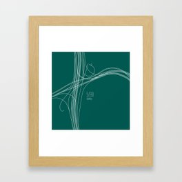 Seattle Intersection Framed Art Print
