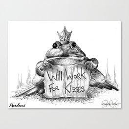 MORDECAI Frog Prince Print Canvas Print