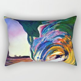 Psycho Wave Rectangular Pillow
