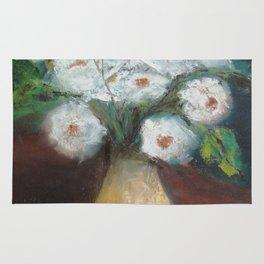 Flores brancas (White flowers) Rug