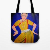 dancer Tote Bags featuring Dancer by Priyanka Rastogi