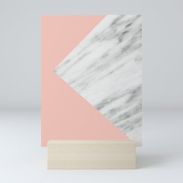 Pink Marble Collage Mini Art Print