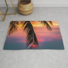 Summer Sky Sunset Palm Rug
