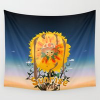 swag Wall Tapestries featuring Sunrise Swag  by ANNINUT