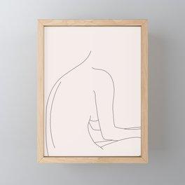 Nude figure illustration - Molly I Framed Mini Art Print