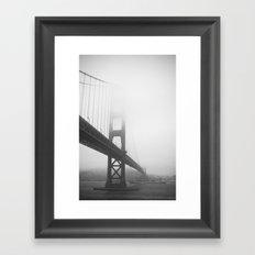 Golden Gate Bridge + Battleship Framed Art Print