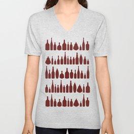 Bottles Red Unisex V-Neck