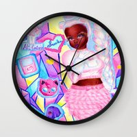 katamari Wall Clocks featuring You Are Smart  by iheartnella