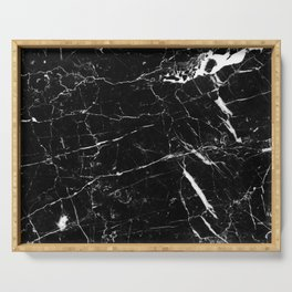 Black and White Marble Serving Tray