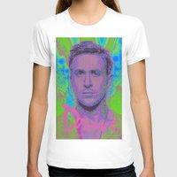ryan gosling T-shirts featuring Drive - Ryan Gosling - Glitch by Esteban Corte