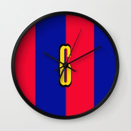 soccer team jersey number six Wall Clock
