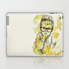 Silent girl by carographic Laptop & iPad Skin