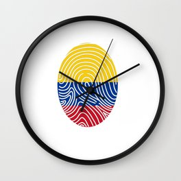 Colombia flag Colombian DNA Wall Clock