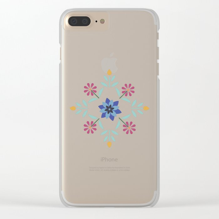 Floral Pattern #3 Clear iPhone Case