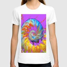 PANTENE ULTRA VIOLET PURPLE  NAUTILUS SHELL ART T-shirt