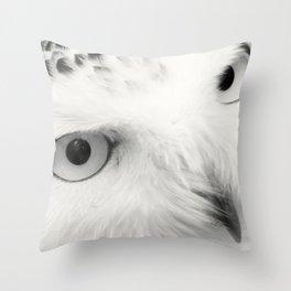 owl chouette bird white Throw Pillow