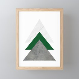 Marble Green Concrete Arrows Collage Framed Mini Art Print