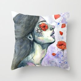 Blinded Throw Pillow