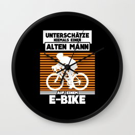 Renter Rente Ebike Saying Graphic Wall Clock