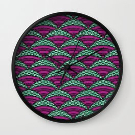 Afro Ankara Wax Print 14 Wall Clock