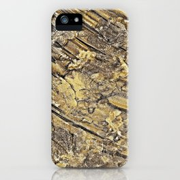 Baby Handprints in Gold and Black iPhone Case