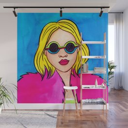 Pink coat Wall Mural