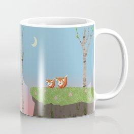Mama Fox and Kit at Twilight Coffee Mug