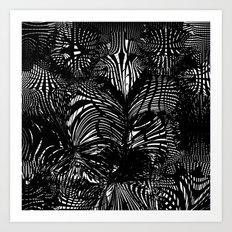 black stripes chaos Art Print