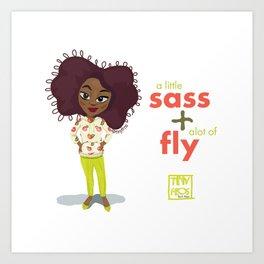 Sass + fly Art Print