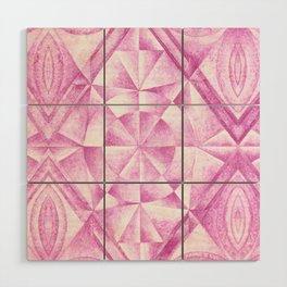 Cobalt Violet Pattern Wood Wall Art