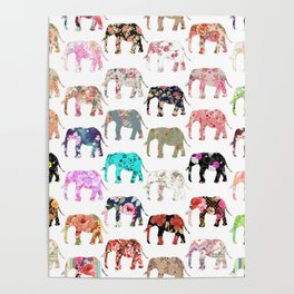 Floral Herd Poster