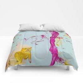 Girls, bird, dog Comforters