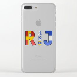 Romeo and Juliet - Navy Code Clear iPhone Case
