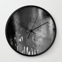 bleach Wall Clocks featuring Bleach B&W by Sparky