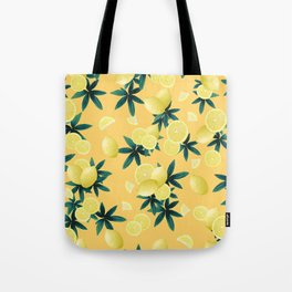 Lemon Twist Vibes #3 #tropical #fruit #decor #art #society6 Tote Bag