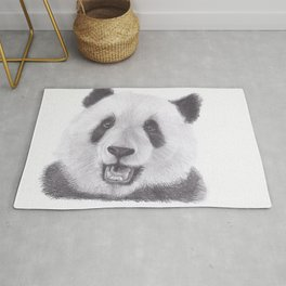 Panda Bear Drawing Rug