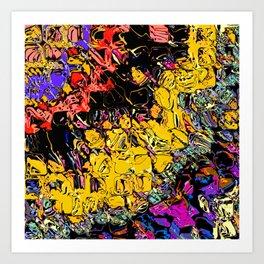 Shifting Shapes And Colors Art Print