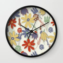 Muted Garden Wall Clock