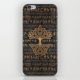 Elder Futhark Pattern and Tree of life iPhone Skin