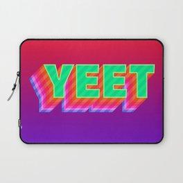 YEET Meme Colorful Typography Laptop Sleeve