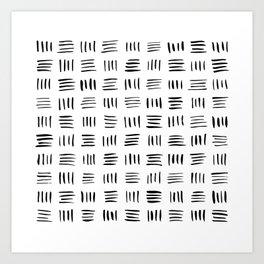 Lines on Lines Art Print