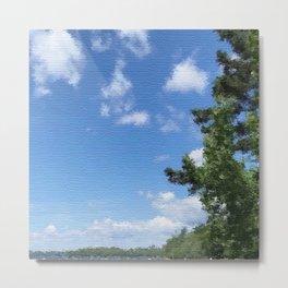 Spring Blue Sky Metal Print