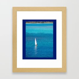 Perfect Blue Sailing Day Framed Art Print