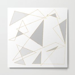 Duo of Triangles Metal Print